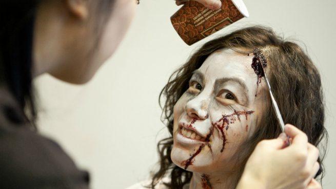 maquillaje zombie niña paso a paso