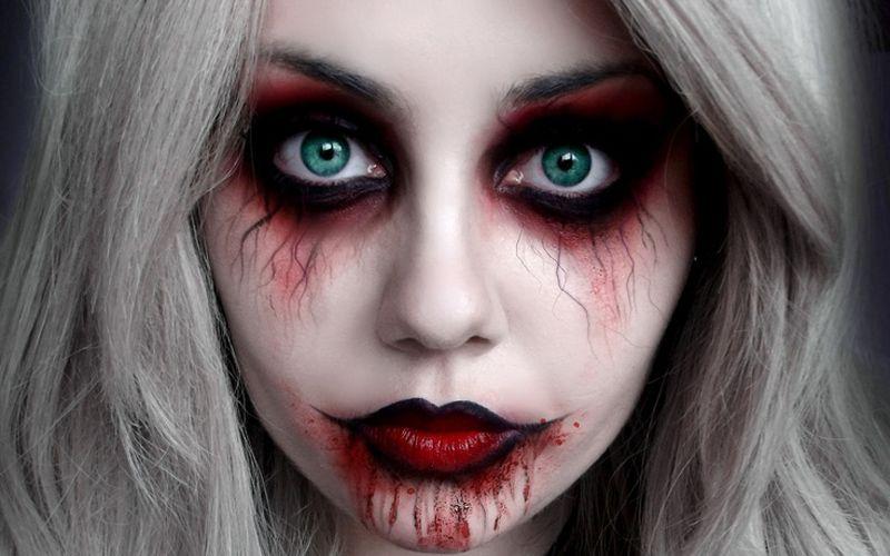 maquillaje zombie para niña