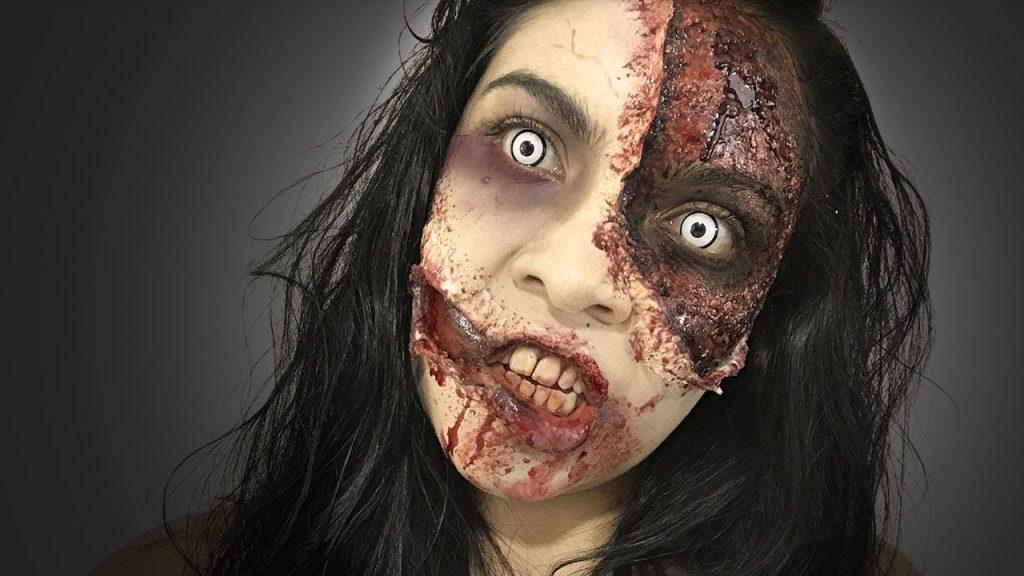 maquillaje de zombie realista