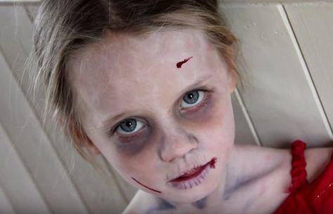 maquillaje zombie niña sencillo y rápido