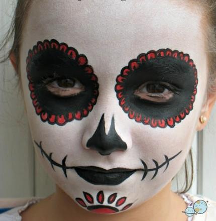 maquillaje catrina para niña bonito
