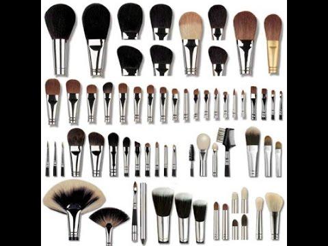 todos los tipos de brochas para maquillaje