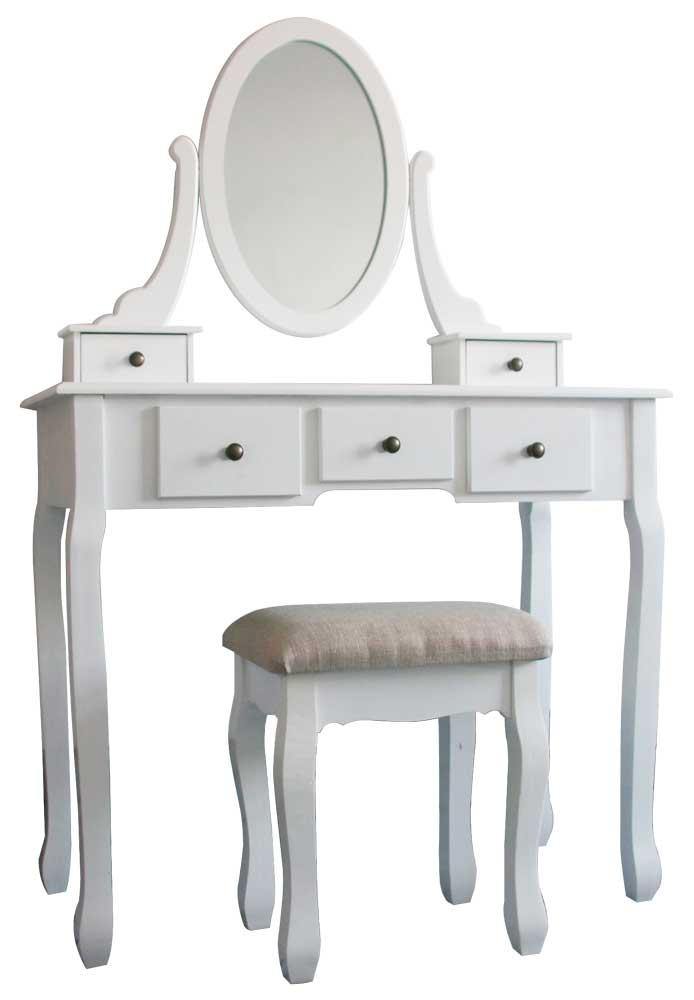 tocador con cinco cajones y espejo elizabeth en conforama