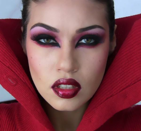 maquillaje carnaval de vampiresa