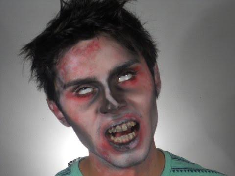 maquillaje para hombre de zombie fácil