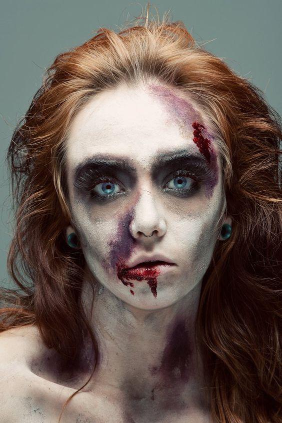 maquillaje de zombie para mujer sencillo