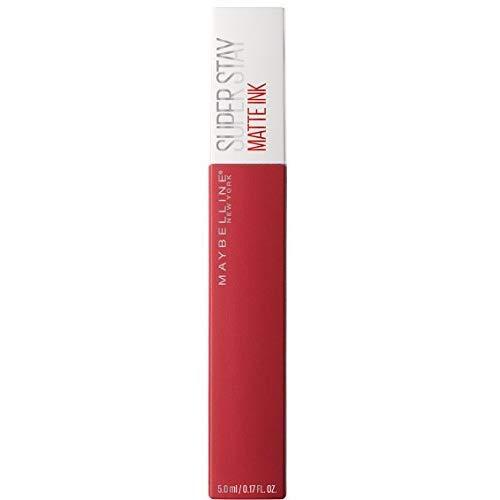 barra de labios mate tono rojo maybelline en amazon