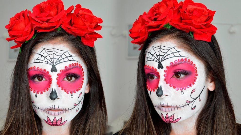 maquillaje de calavera mexicana catrina