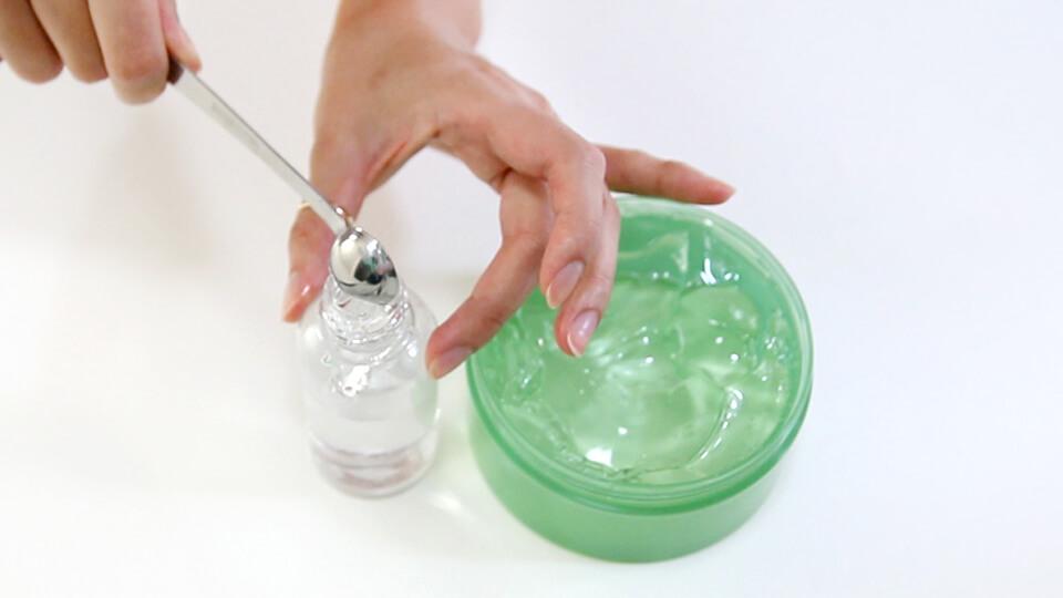 fijador de maquillaje casero solo con glicerina
