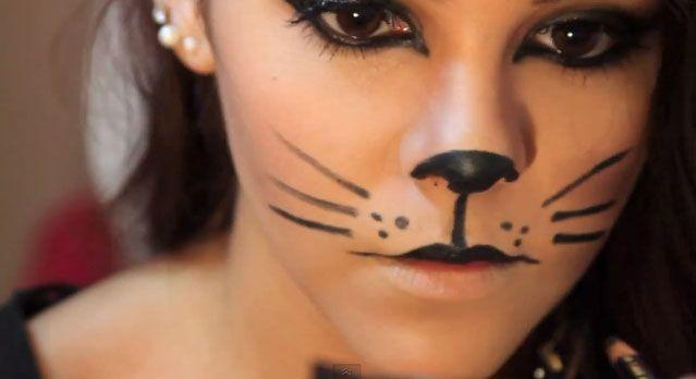 maquillaje gato fabuloso negro