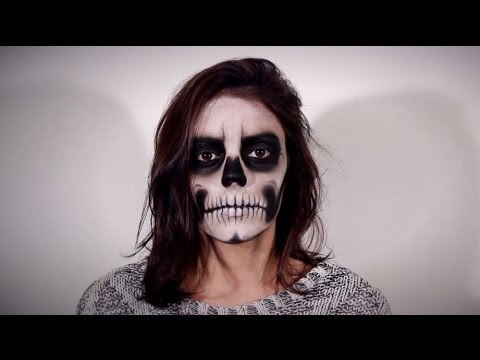 maquillaje calavera sencillo halloween