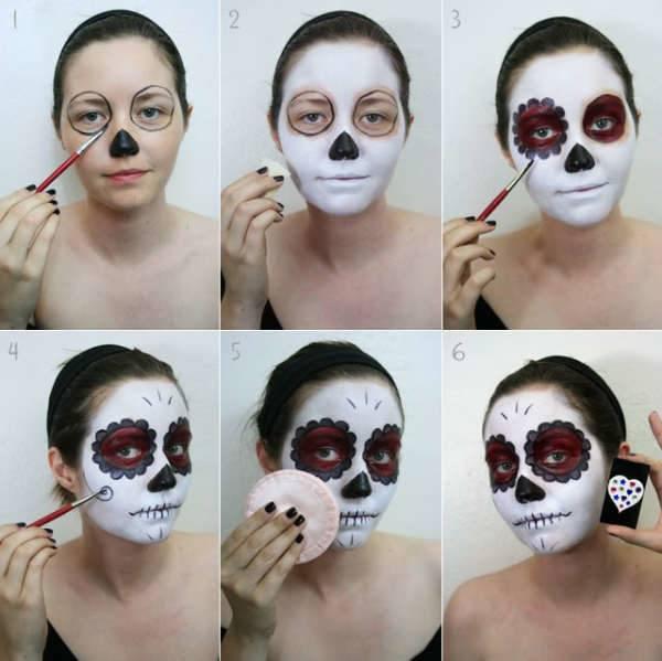 maquillaje paso a paso catrina perfecto
