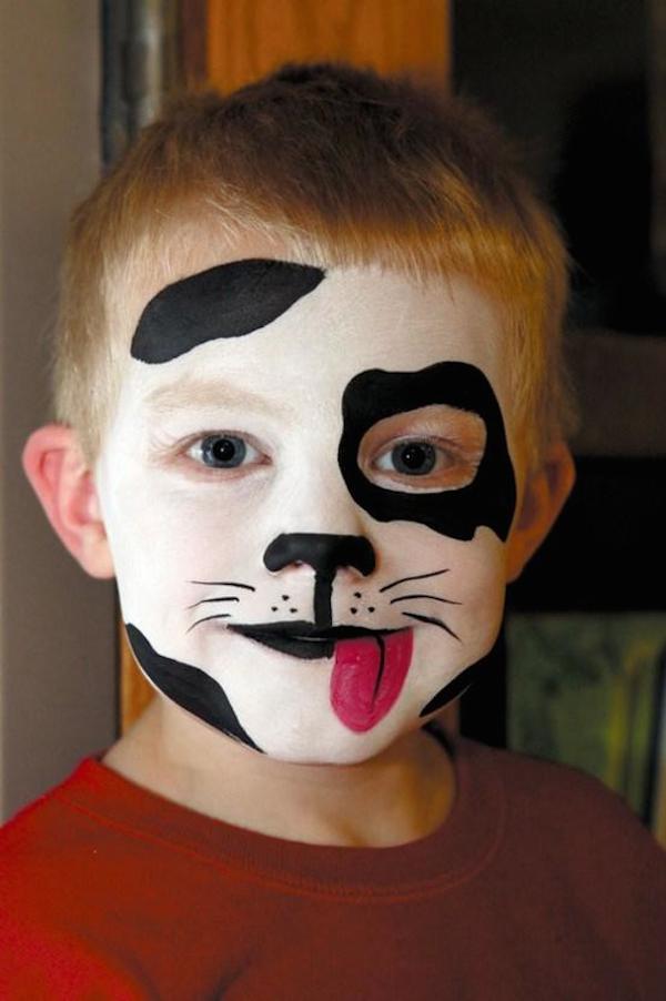 maquillaje dalmata infantil