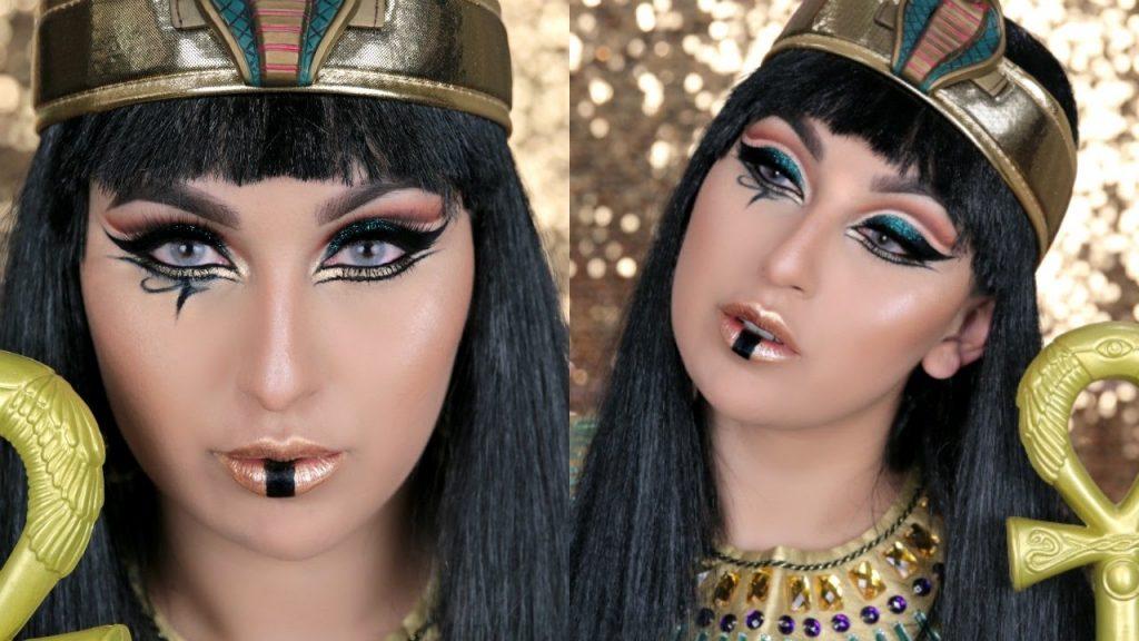 maquillaje egipcio hermoso
