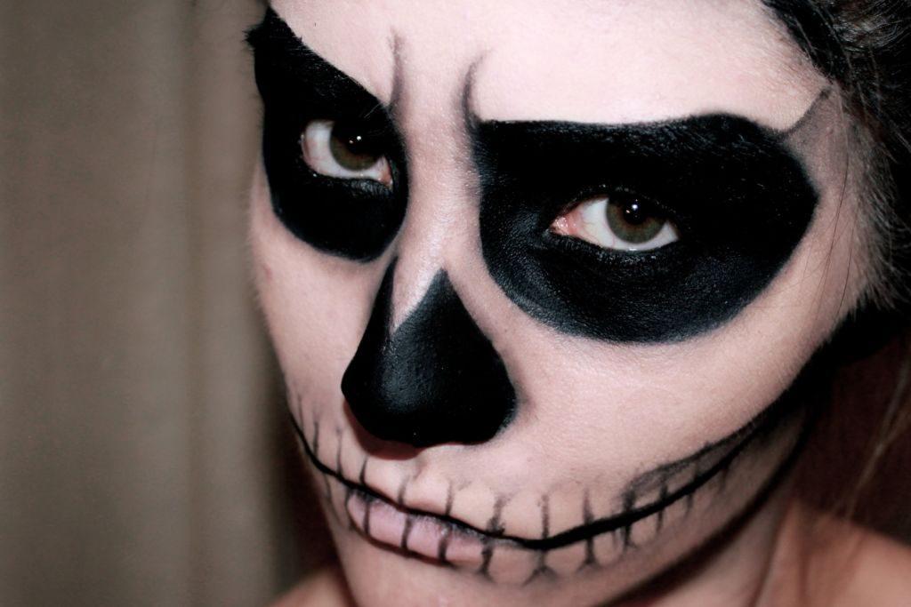maquillaje esqueleto ideas