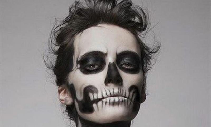 maquillajes esqueleto ideas