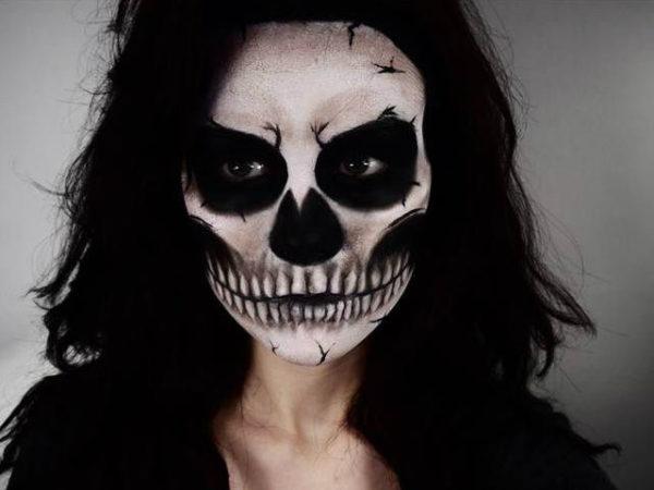 maquillaje de esqueleto para mujer