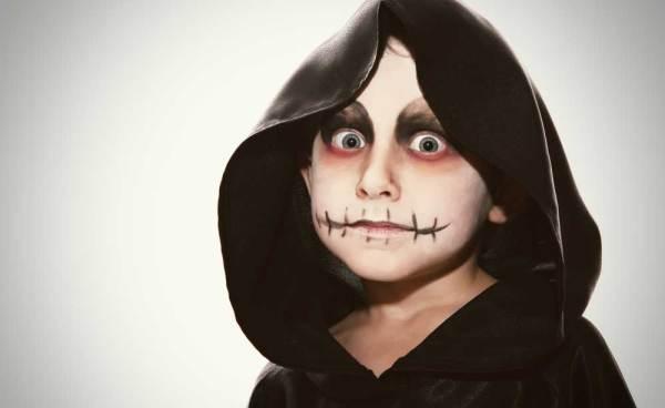 maquillaje esqueleto para niño