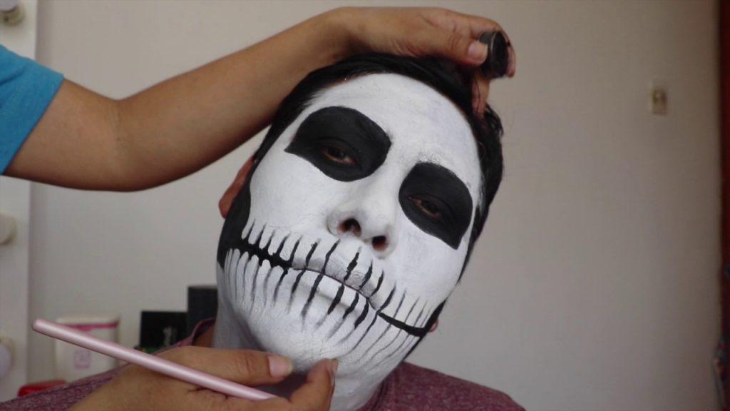 maquillaje esqueleto noche brujas