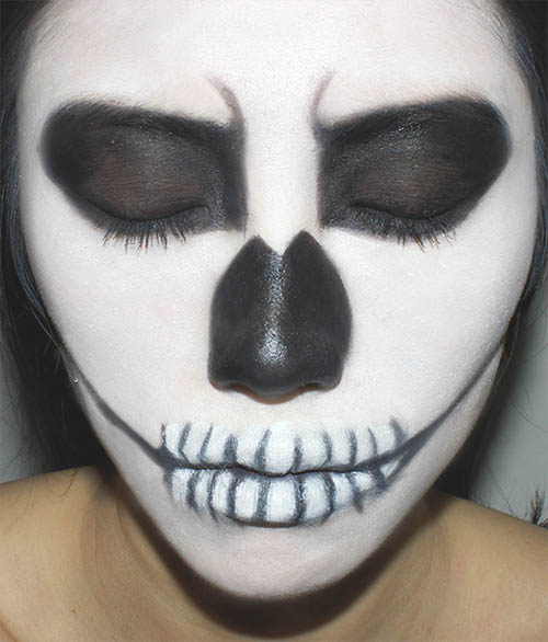 maquillaje esqueleto sencillo
