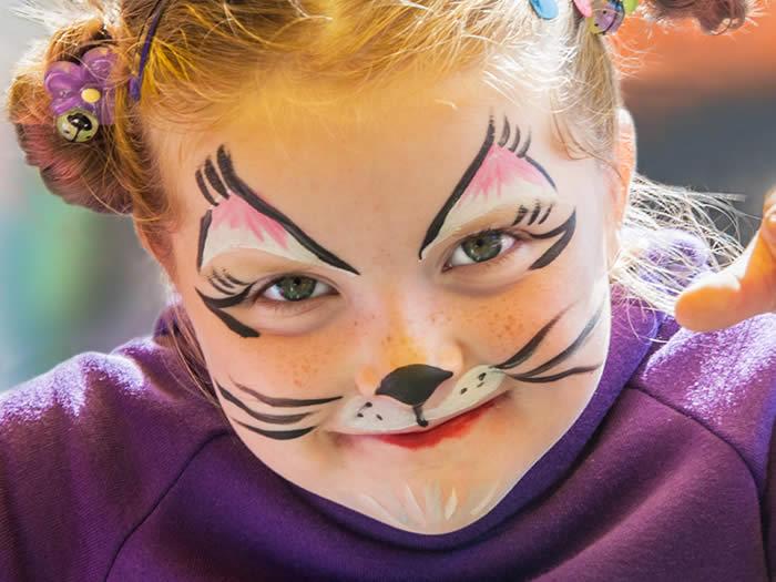 maquillaje gato niña