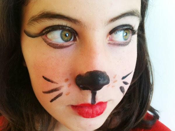 maquillaje de gato sencillo