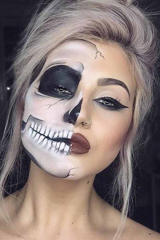maquillaje de calavera para halloween mujer