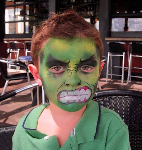 maquillaje de hulk para niños