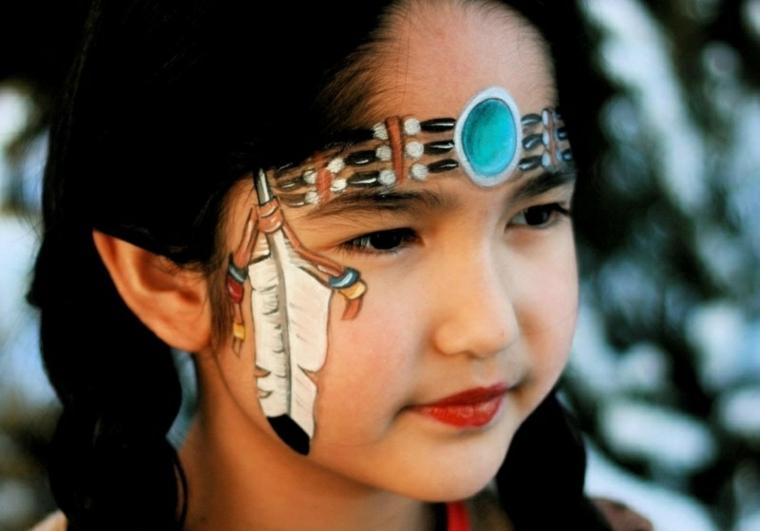 maquillaje de india niña