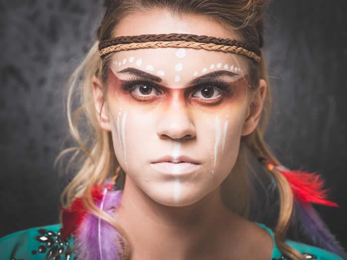 maquillaje de india con sombreado