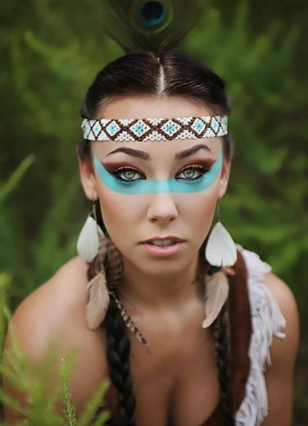 maquillaje de india sencillo