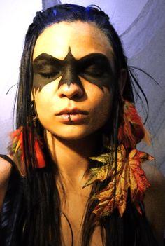 maquillaje indio guerrero