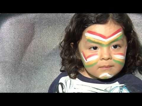 maquillaje 4 colores indio para niños