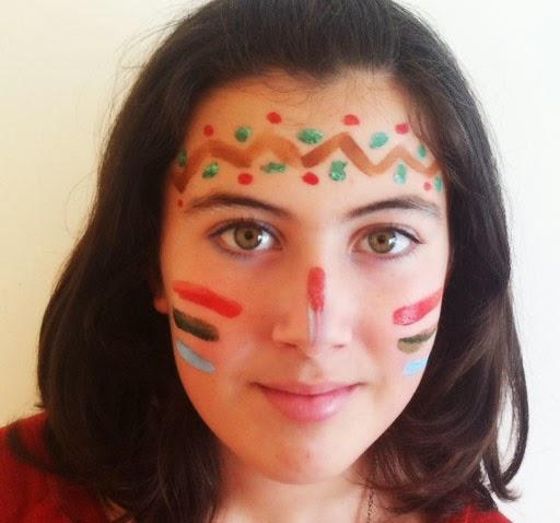 maquillaje indio mujer sencillo