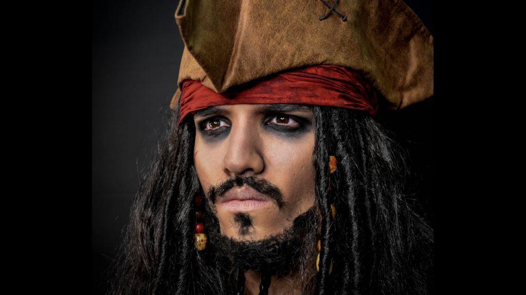 maquillaje jack sparrow hombre