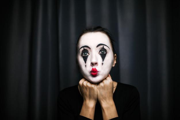 maquillaje de mimo sencillo para mujer