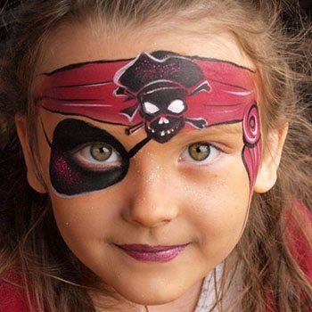 maquillaje pirata niña sencillo
