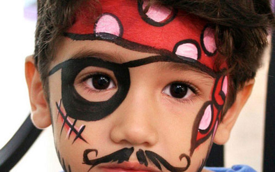 maquillaje de pirata para niños sencillo
