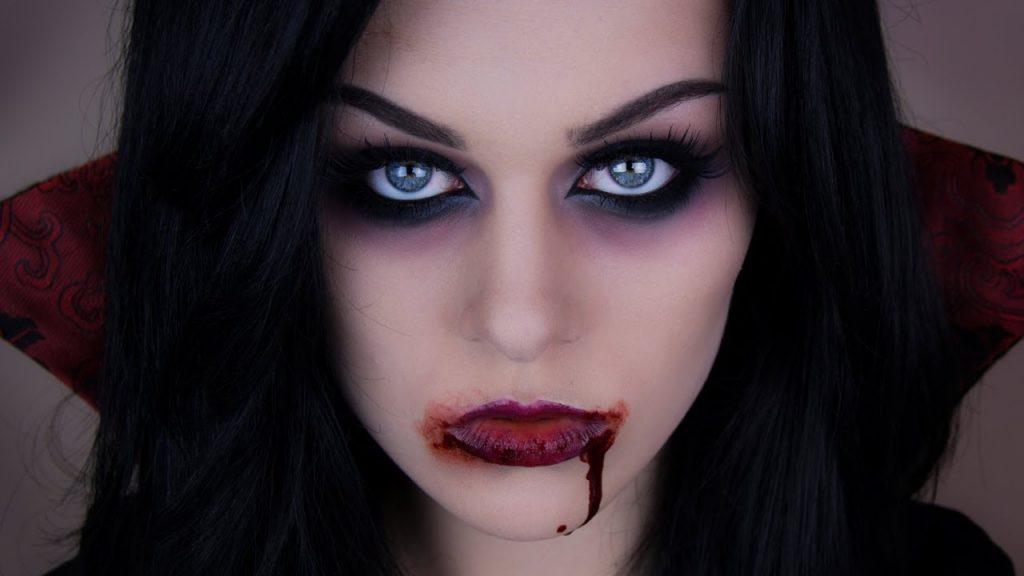 maquillaje de vampiresa resultado