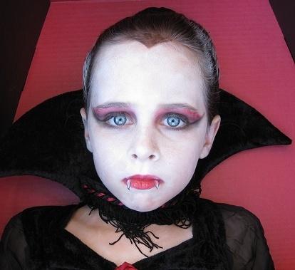 maquillaje de vampiresa para niña perfecto
