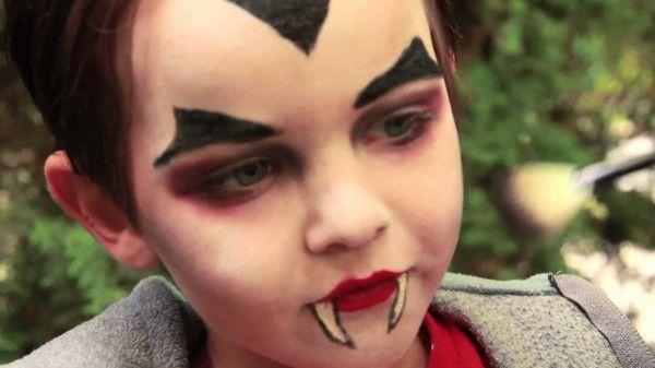 maquillaje niño vampiro