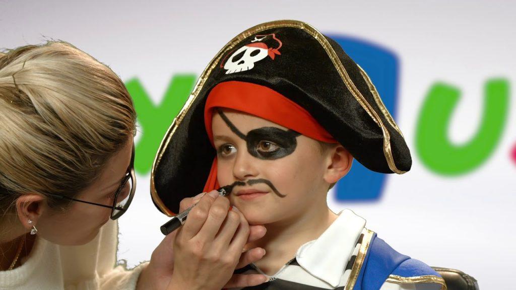 maquillaje pirata niño sencillo