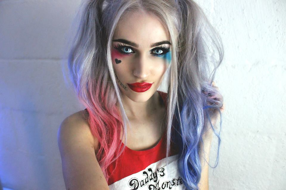 maquillaje harley quinn paso a paso