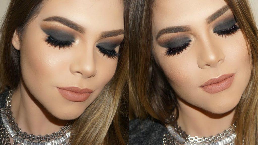 maquillaje ahumado noche