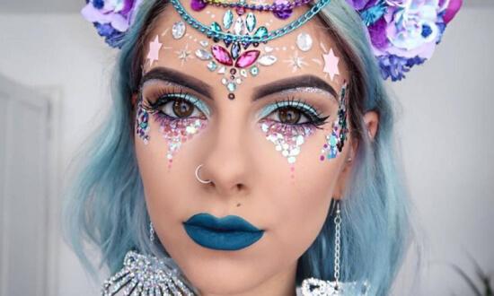 maquillaje artistico mujer