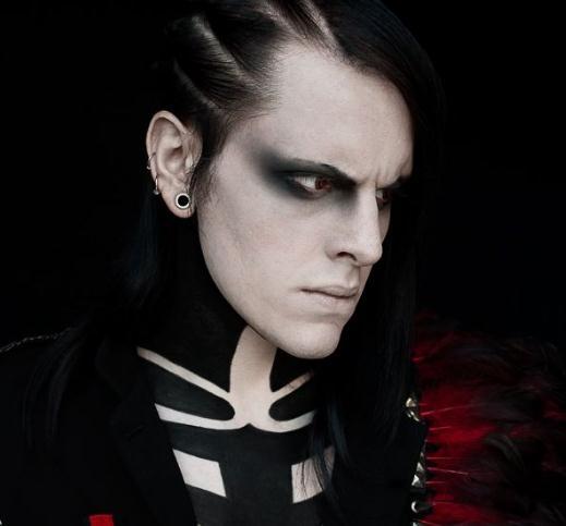 Maquillaje gotico para hombre