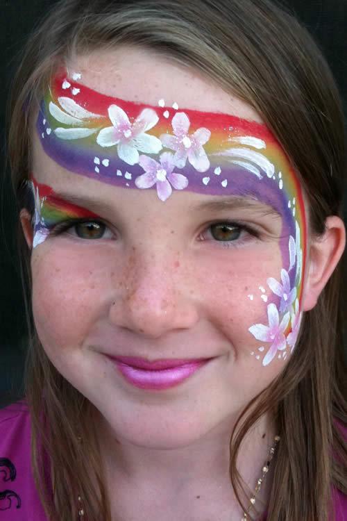 maquillaje hada arcoiris