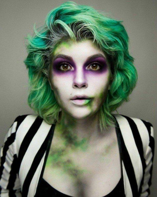 maquillaje mujer joker sencillo