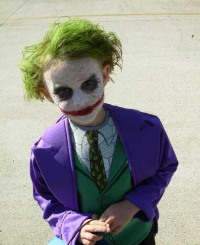maquillaje joker para niño