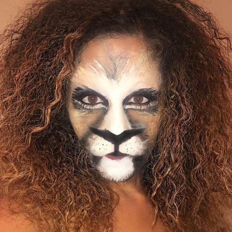 maquillaje león